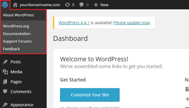 WordPress Admin Bar