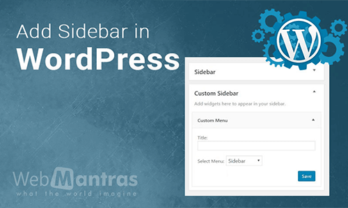 Add sidebar in wordpress