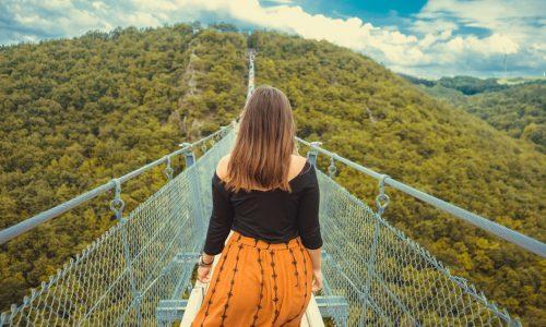 Adventure back view bridge